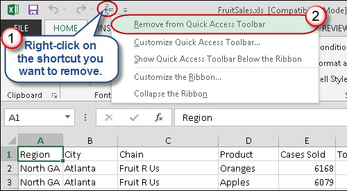 Reassign keyboard shortcut numbers by reorganising your Quick Access Toolbar.