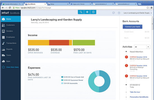 New QuickBooks Online Harmony interface